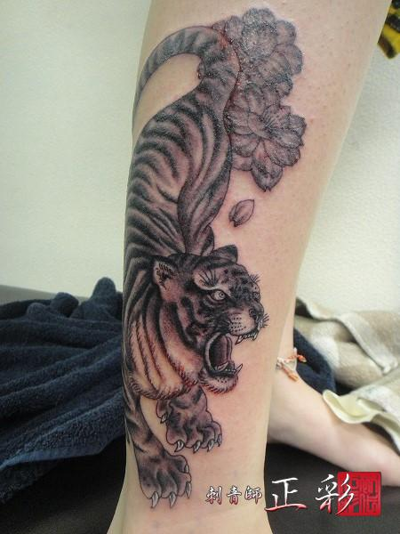 虎と八重桜